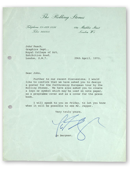 rolling stones letter